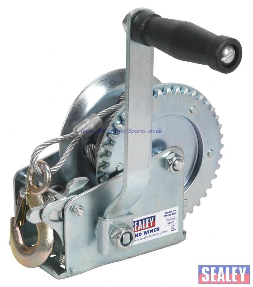 Geared Hand Winch 540kg Capacity with Cable